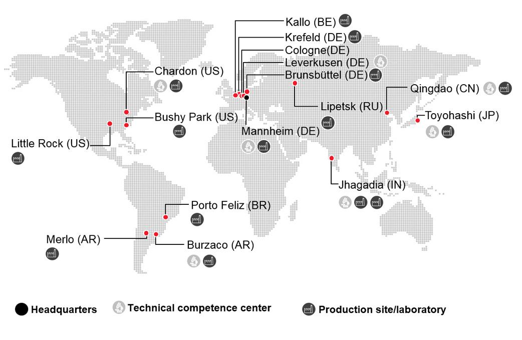 Sites worldwide